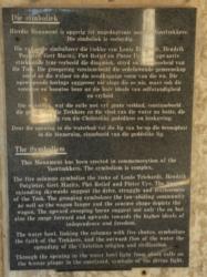 Great Trek Monument near Winburg plaque. (1)