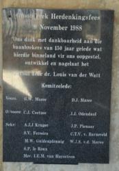 Great Trek Monument near Winburg plaque. (2)